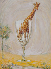 """The Cut-Glass Bath"", Rene Magritte (1946) (Joey Hinton) Tags: sanfrancisco california unitedstates rene magritte exhibit museum modern art google pixel2 andriod smartphone cellphone cameraphone phone"