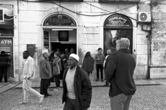 A Ginjinha (Manuel Goncalves) Tags: lisbon lisboa ginjinha street portugal nikonn90s nikkor28mm rolleiretro400s analogue epsonv500scanner blackandwhite 35mmfilm