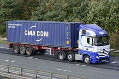 AY17 SXW (panmanstan) Tags: mercedes actros mp4 wagon truck lorry commercial container freight transport haulage vehicle m62 motorway eastcowick yorkshire