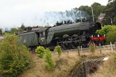 Flying Scotsman through Bagillt 4 (BigWingPhoto) Tags: flying scotsman north wales bagillt deside train steam locomotive railway track 60103 express ynys mon lner class a3 4472 pacific nigel gresley gnr flint canon 7d 70200f4l