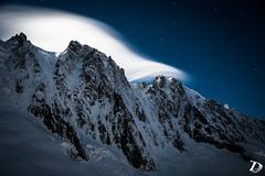 Another Cold Dream ©DamienDeschamps (deschdam6@gmail.com) Tags: clouds lenticular mountains moon moonlight fullmoon longexposure shadows shapes light cold winter landscape steep ice snow rock glacier nature adventure adventurephotography landscapephotography nightphotography earth stars blue sky weather mothernature explore paysages france chamonix chamonixmontblanc montagnes climbing zone nightscape