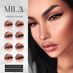 . MILA . Winged Eyeliner (Catwa & LeLutka) @ Level Event (miiane SL ( MILA . POSES )) Tags: mila second life secondlife eyeliner makeup catwa lelutka applier level