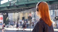 in her own world (bilderkombinat berlin) Tags: ⨀2018 berlin street people prenzlauerberg city germany headphones girl capital eu streetlife bridge hair colors