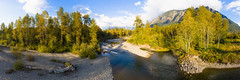 Down By The River (John Westrock) Tags: landscape river nature trees mtsi washingtonstate pacificnorthwest djimavicpro2 dji autumn fall mountains panoramic pano northbend washington unitedstates us