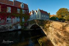 In old Bruges (Marc Haegeman Photography) Tags: brugge bruges vlaanderen flanders marchaegemanphotography nikon nikond850 brug city stad architecture building belgië belgium bridge river canal gracht groenerei