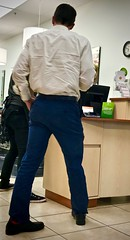 Blue Pants (LarryJay99 ) Tags: man men guy guys dude male studly manly dudes handsome blue pants peopel people backside