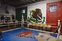 Ringside (radargeek) Tags: farmersmarket publicfarmersmarket oklahomacity oklahoma okc guerreroboxing amateurclub boxing mural mexican flag boxer training punching farmerspublicmarket 2018 october