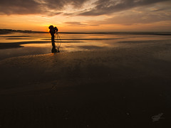 He's done it again (Karl Horsman) Tags: landscapephotography landscape beach beaches sand sunrise reflection coastal photography photographer cambersands atmospheric atmosphere silhouette canon canonuk sigma leefilters clouds