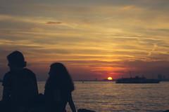 Moda (bilgehanbilge) Tags: sea seascape deniz seaside gökyüzü sunset sky günbatımı silhouette siluet ferry sun vapur güneş clouds bulut