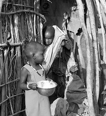 In traditional Masaï village - South Rift Valley - Kenya (lotusblancphotography) Tags: africa afrique kenya travel voyage people personnes monochrome blackwhite