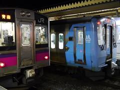 青森 v.s. 青い森 (しまむー) Tags: panasonic lumix dmcgx1 gx1 g 20mm f17 asph trip train yuri highland railway 由利高原鉄道