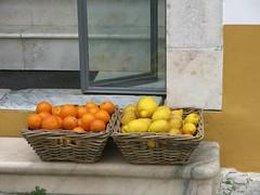 Postcards from Portugal  - Evora Details (Pushapoze (NMP)) Tags: portugal evora details doors portes chairs chaises citrus fronton courtyard