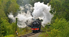SEVERN VALLEY RAILWAY AUTUMN GALA (chris .p) Tags: nikon d610 view capture steam svr shropshire england autumn 2018 severnvalleyrailway september royalscott lms 46100 railway gala