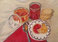 IMG_20180928_185153_805 (e.wbrown) Tags: jam jelly crackers drawing art glass spoon napkin dinner snack biscuits draw plate meal