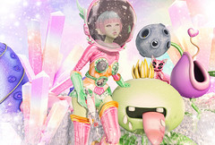 Exploring New Places (Gabriella Marshdevil ~ Trying to catch up!) Tags: sl secondlife alien cute kawaii doll arcade fantasy tsg moonamore wasabipills bananan