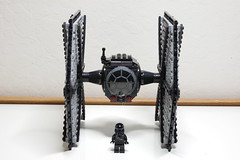 """TIE/fo Space Superiority Fighter: Designation- TIE/fo-4019 """"Iris"""" (Evrant) Tags: lego star wars tie fighter starfighter custom moc spaceship ship first order evrant"""
