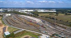 Basford Hall  liners (robmcrorie) Tags: 90047 86639 crewe bas ford hall yard railway train marshalling freightliner phantom 4 basford intermodal 66418 66548 90050 rail railfan loco