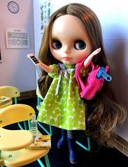 3. Hooray..TGIF! (Foxy Belle) Tags: blythe doll seeking green stock dress diorama 16 scale barbie school classroom desk science biology scene dollhouse miniature student apelles
