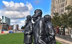 The Beatles Sculptures, Liverpool, Merseyside, North West, UK. (Manoo Mistry) Tags: liverpool northwest merseyside nikon nikond5500 tamron tamron18270mmzoomlens sky thebeatles sculptures monument statues