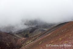 Crater in the mist (10b travelling / Carsten ten Brink) Tags: carstentenbrink 2018 catania etna europa europe iptcbasic italia italian italie italien italy sicily silvestri cmtb crater lava volcano vulcan