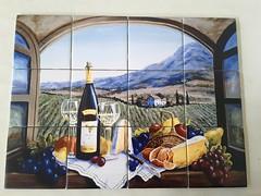A bit of Alsace tile mural on 10.8cm tiles at £132  www.tilemuralstore.co.uk  #tilemurals #kitchentiles #winelover #winetime (tilemuralstoreuk) Tags: kitchentiles tilemurals winelover winetime