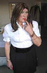 Collblaskrtclo-002 (fionaxxcd) Tags: crossdresser crossdressing m2f mtf transvestite trannie tranny ladyboy bust nipples rednails breast bangles