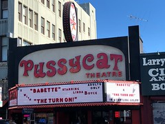 Once Upon a Time in Hollywood (jericl cat) Tags: hollywood story onceuponatime 1970s pussycat theatre vogue theater xxx thenighttheyraidedminskys sign signage neon retro production