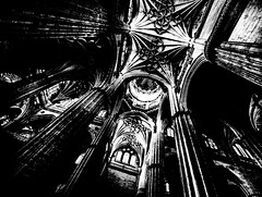 HeavenPillars.jpg (Klaus Ressmann) Tags: klaus ressmann omd em1 autumn catedralnueva esalamanca iaowa75mm interior architecture blackandwhite cityscape contrast flccity nave klausressmann omdem1