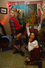 Flashdance, Oh my! (radargeek) Tags: prairierebellion fashion fashionshow 2018 february houseparty roundabout okc oklahomacity dress skirt tattoo ripped stockings plaid lifted fishnet piercings boots