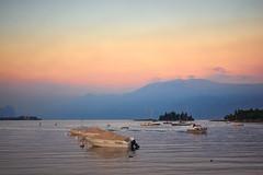 Lago di Garda (tosch_fotografie) Tags: gardasee italien see wasser boot sonnenuntergang schiff insel berge monte baldo lago lake boat sunset evening abend abendstimmung mountains olympus em1