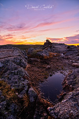Atardecer en Pena Trevinca (David Castro Rodriguez) Tags: nikon nikkor atardecer sunset agua water clouds stone rock clickgalicia galicia galifornia magenta blue azul light sun like follow orange