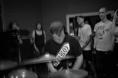 2018-10-15-0028 (fille_ennuyeuse) Tags: big zit chicago punk hardcore bands 35mm black white film ilford delta 400 delta400 analog photography normal records kevin joe eric kahler bored straight tenement tom amos coltranes animal sacrifice gas rag albion house riverwest milwaukee jj spencer
