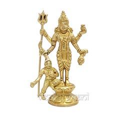 Goddess Kaali Mata Idol in Brass | From Vedic Vaani™ (vedicvaani.com) Tags: deity god goddess lord statue idols sculptures deities kali mata puja pooja shop online divinity worship devotion vishnu samhita sculpture vedic vaani voice of vedas flows towards shining brass