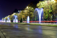 Street Water Fountain (αpix) Tags: street water fountain night nikon d5300 bucuresti piata unirii romania