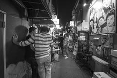 TOKYO ALLEY (ajpscs) Tags: ©ajpscs 2018 ajpscs japan nippon 日本 japanese 東京 tokyo city people ニコン nikon d750 tokyostreetphotography streetphotography street seasonchange fall autumn aki あき 秋 shitamachi night nightshot tokyonight nightphotography citylights tokyoinsomnia nightview dayfadesandnightcomesalive strangers urbannight attheendoftheday urban othersideoftokyo walksoflife tokyoscene anotherday streetoftokyo alley tokyoalley monochromatic grayscale monokuro blackwhite blkwht bw blancoynegro blackandwhite monochrome nightjuststarted