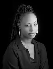 Marie II (adrianmichaelphotography) Tags: blackandwhite blackandwhitephotography model fashion blackonblack studio studiophotography studiophotographer braids africanamerican africanamericanwoman woman beauty beautiful portraits portrait portraitphotography fierce
