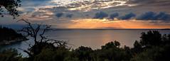 Ionian Sky (MartinAllison) Tags: sunrise dawn paxos paxi greece kipiadi ionian island hills cloud sun rays light sunbeams landscape wide panorama morning mediterranean raw kourteika