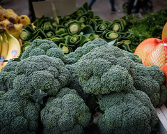 Broccoli for sale. (David M:) Tags: food market vegetables vegan health plant based