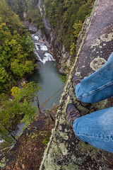 Life on the Edge (Jon Ariel) Tags: tallulah tallulahfallsstatepark northgeorgia georgia ga waterfall water october