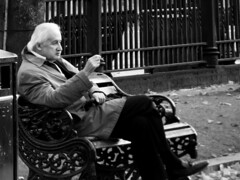20181011 On the bench (an_extract_of_reflection) Tags: people bench park blackandwhite monochrome