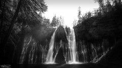 Burney Falls (Monochrome) (sbadude1) Tags: blackandwhite bw burney nature waterfall water monochrome california tokina nikon d5100 hdr