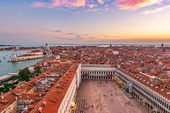 Venice - Italy (figatz) Tags: venezia venice italy europe sunset photography italia st mark square clocktower fromabove tower nikon tokina tourism travel colorful beautiful