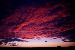 red clouds (Gerald Wollner) Tags: sunset sonnenuntergang sky red rot abendstimmung abendrot evening canoneos6d canon eos austria österreich burgenland clouds wolken afterglow outside countryside himmel