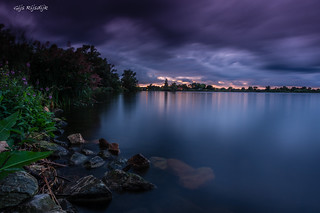 Long exposure with spectacular sky