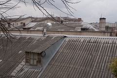 Autumn on the roof (Alexander Oleynik) Tags: window weather roof gray attic pipe autumn season sevastopol architecture