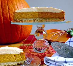 The Wife's Birthday Cake Request Pumpkin Cheesecake (Eat With Your Eyez) Tags: baking cooking food home chef plating pumpkin autumn fall cuisine cheesecake sweets dessert birthday
