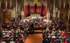 DSCN0073c Glinka Overture to Russlan and Ludmilla. Ealing Symphony Orchestra, leader Peter Nall, conductor John Gibbons. St Barnabas Church, west London. 6th October 2018. (Paul Ealing 2011) Tags: ealing symphony orchestra eso 6 october 2018 conductor john gibbons leader peter nall st barnabas church west london pitshanger lane w51qg w5 1qg england concert classical