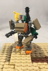 With LEGO  Overwatch  on the way, I thought I'd try my hand at a Bastion build (Syntheticmason 1) Tags: lego overwatch