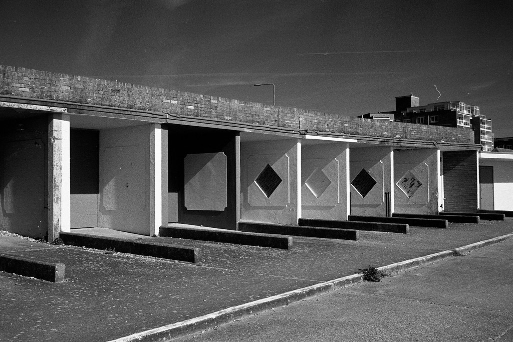 Concrete Beach Huts