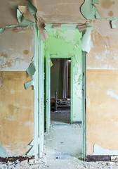 Pastel Decay (L Davis-Smith) Tags: palouse wall decay door entry interior